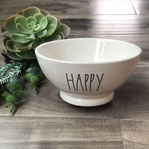 RAE DUNN Happy Bowl - EUC